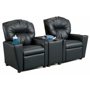 Ava Home Theater Childrenu0027s Cotton Recliner With Storage Compartment And  Cup Holder
