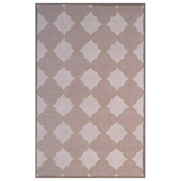 Wool Hand-Tufted Pink/Ivory Area Rug by Eastern Weavers
