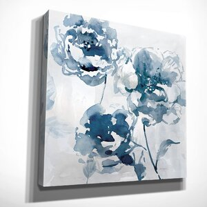 'Indigo Garden I' by Carol Robinson Painting Print on Wrapped Canvas by Wexford Home