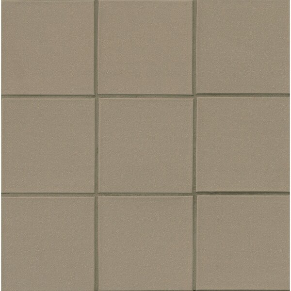 Quarry Basics Abrasive 6 x 6 Porcelain Field Tile in Puritan Gray by Grayson Martin