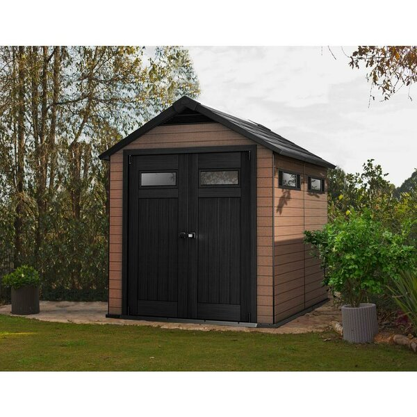 Fusion 7 ft. 6 in. W x 9 ft. 5 in. D Composite Storage Shed by Keter