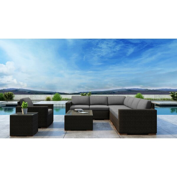 Glen Ellyn 6 Piece Rattan Sectional Seating Group With Sunbrella Cushions By Everly Quinn by Everly Quinn Discount