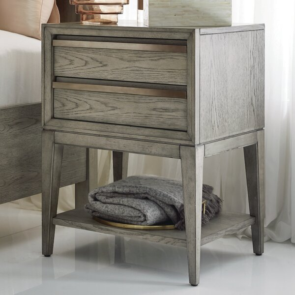 Ehrhardt Wood Open 2 Drawer Nightstand by Brayden Studio