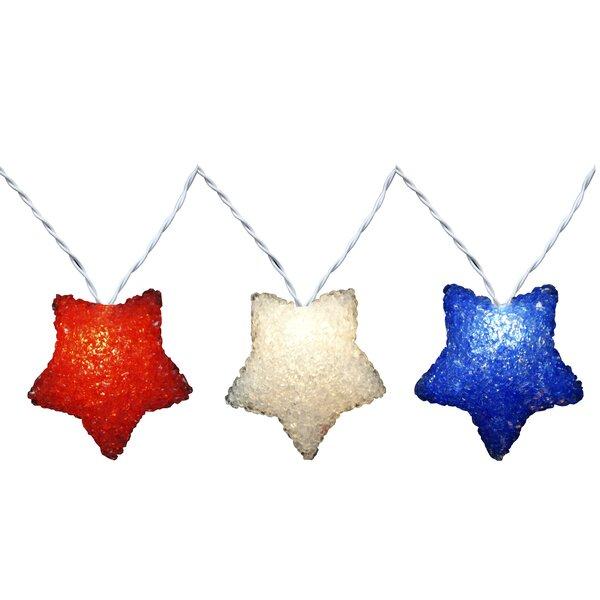 10 Light RWB Sparkle Star Set by Penn Distributing