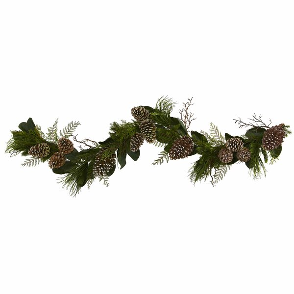 6 Pine Cone and Pine Artificial Garland by The Holiday Aisle