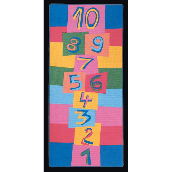 Hip Hop Hopscotch Kids Indoor/Outdoor Area Rug by Learning Carpets