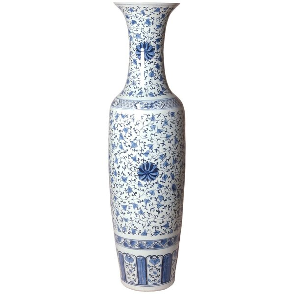 Baccarat Tall Floor Vase by Canora Grey