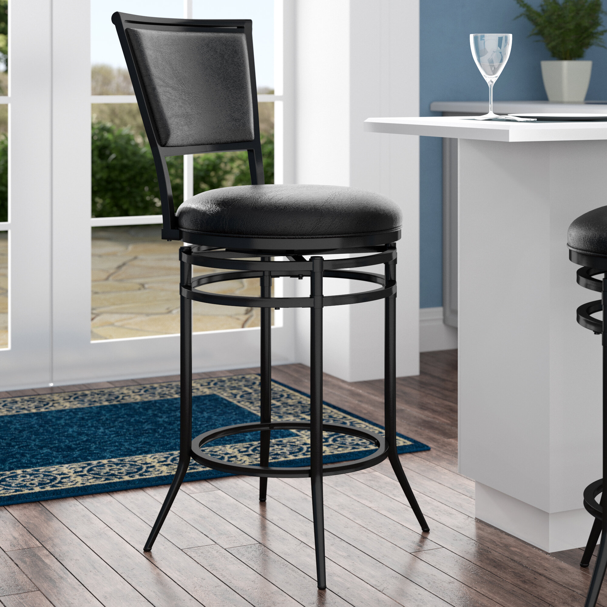 Miraculous Darby Home Co Massena Bar Counter Swivel Stool Reviews Dailytribune Chair Design For Home Dailytribuneorg