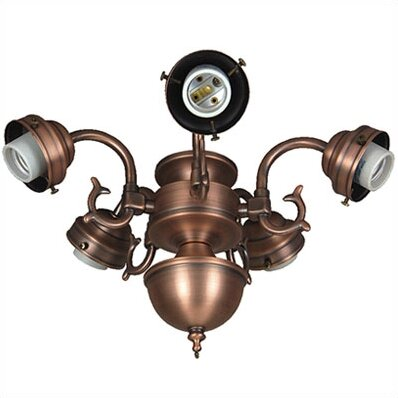 Compact Fluorescent Decorative Scroll Ceiling Fan