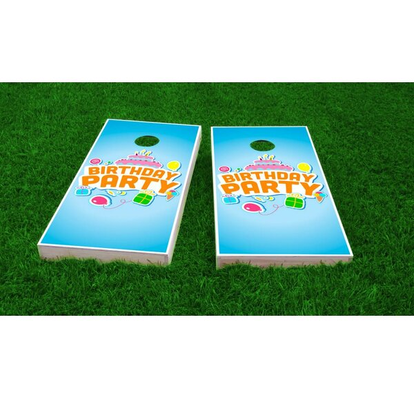 Birthday Party Light Weight Cornhole Game Set by Custom Cornhole Boards