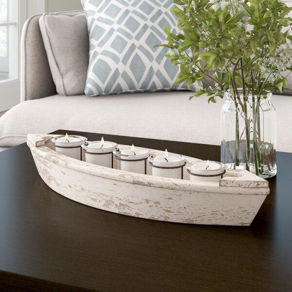 Boat Wood/Iron Candlelabra by Breakwater Bay