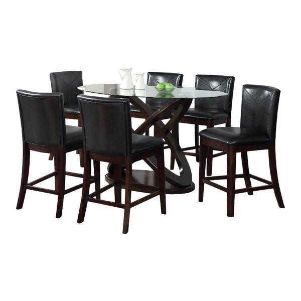 Ollivander 7 Piece Counter Height Dining Set by Hokku Designs