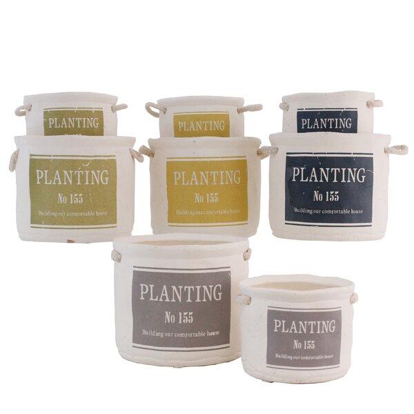 No. 155 8-Piece Ceramic Pot Planter Set by Selectives