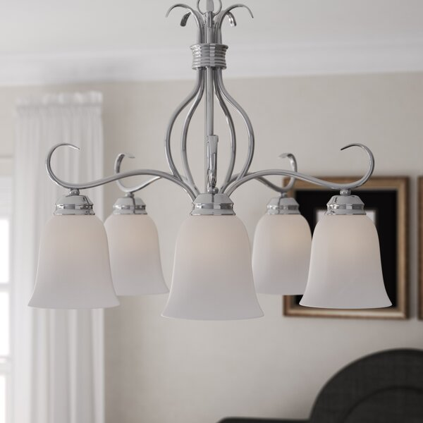 Birdsall 5-Light Shaded Chandelier by Three Posts