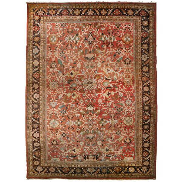 Strahan Antique Hand-Knotted Wool Crimson Area Rug