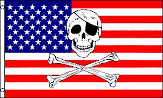 USA Pirate Traditional Flag by Flags Importer