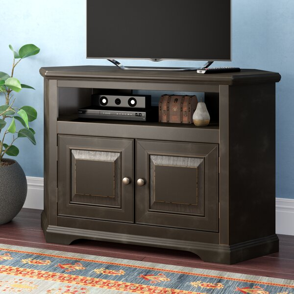 Home & Outdoor Wentzel Corner TV Stand For TVs Up To 43 Inches