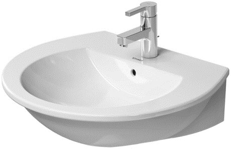 Darling New Ceramic 24 Wall Mount Bathroom Sink with Overflow by Duravit
