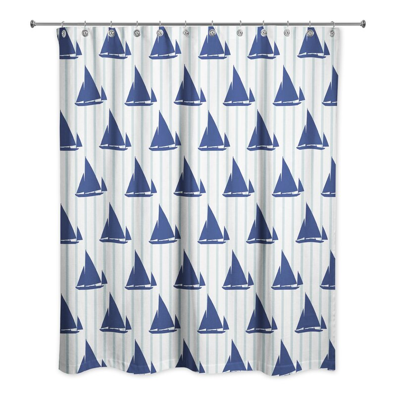 Joe Boat Stripes Shower Curtain