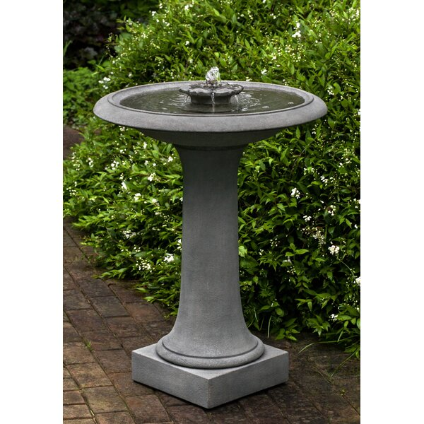 Camellia Birdbath Fountain by Campania International