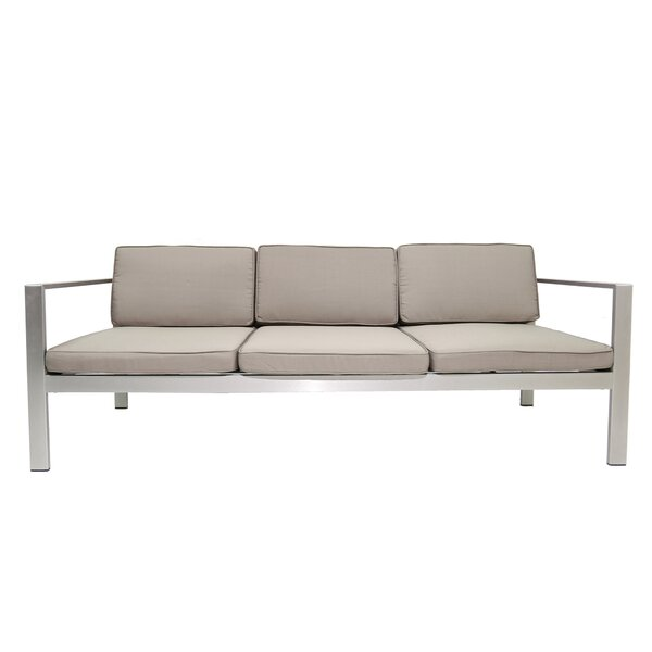 Karen Patio Sofa with Cushions by Rosecliff Heights