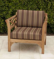 Lorenzo Outdoor Teak Sunbrella Lounge Chair with Cushion by Longshore Tides