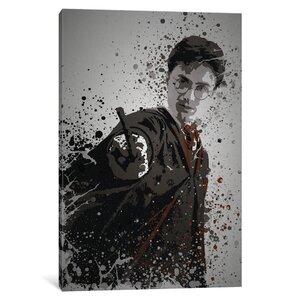 'Pop Culture Splatter Series: The Boy Who Lived' Graphic Art Print on Wrapped Canvas by East Urban Home