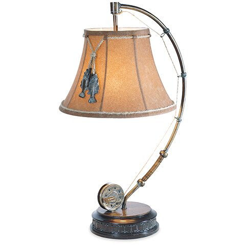 Bruno Catch of the Day 26 Arched Table Lamp by Millwood Pines