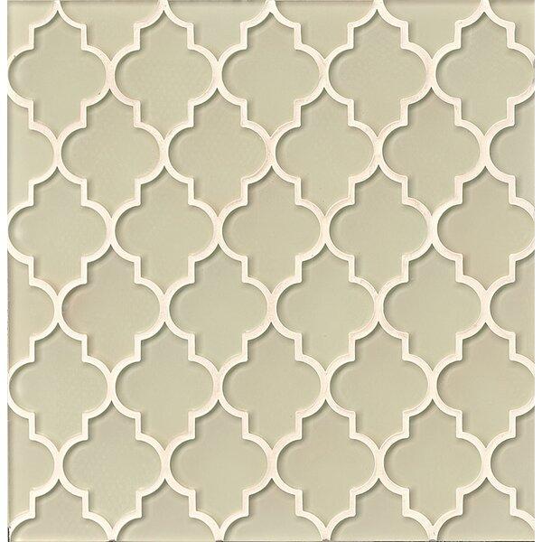 La Palma Glass Mosaic Tile in Glossy Sand by Grayson Martin