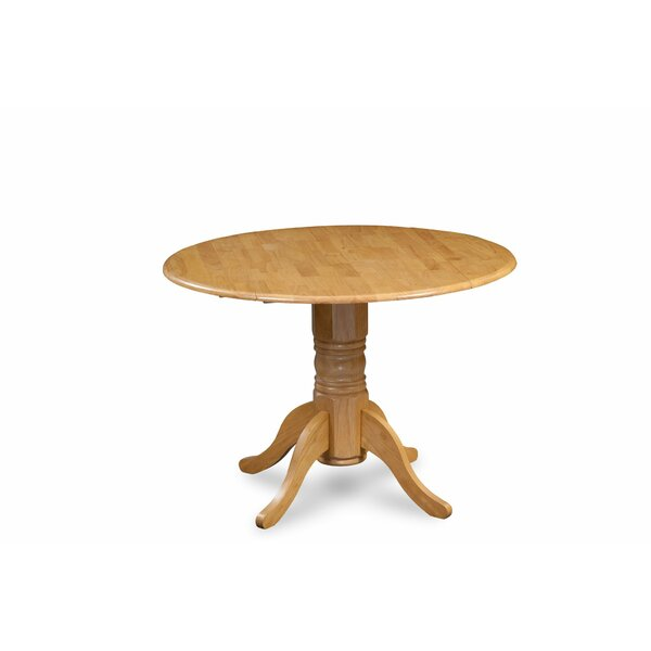 Alberta Solid Wood Dining Table by Breakwater Bay
