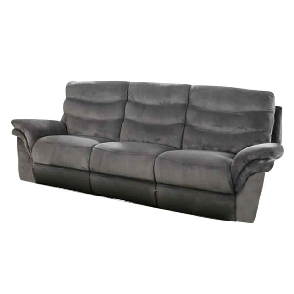Helgeson Transitional Sofa Manual Wall Hugger Recliner
