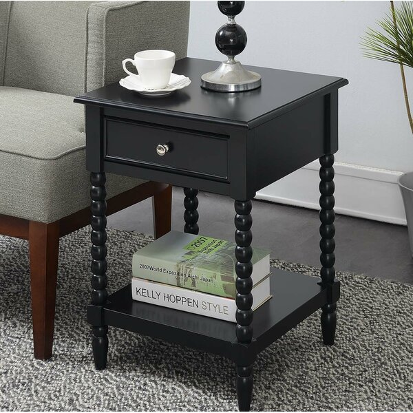 Cryal End Table With Storage By Breakwater Bay