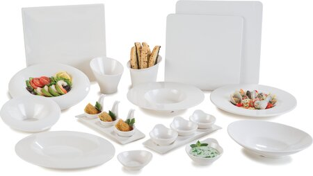 Halcyon Sleigh Melamine Serving Platter (Set of 12) by Carlisle Food Service Products