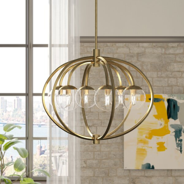 Bynoe 6-Light Globe Chandelier by Mercury Row