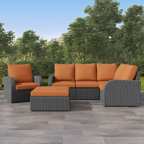 Killingworth Patio Sectional with Cushions by Rosecliff Heights Rosecliff Heights