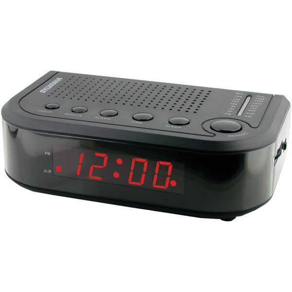 AM/FM Radio Tabletop Clock by Sylvania