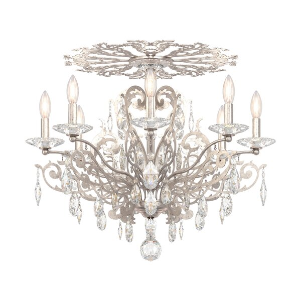 Filigrae 8-Light Semi Flush Mount by Schonbek