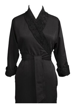 Telegraph Hill Luxury Double Layer Silky Microfiber Spa Bathrobe by Jerdon