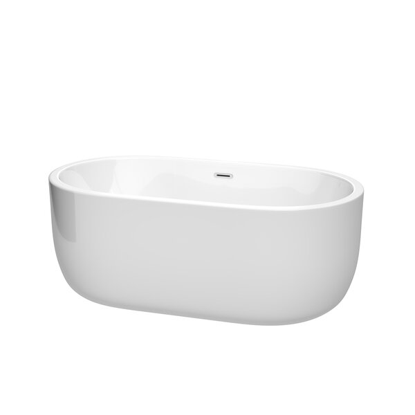 Juliette 60 x 31.25 Freestanding Soaking Bathtub by Wyndham Collection