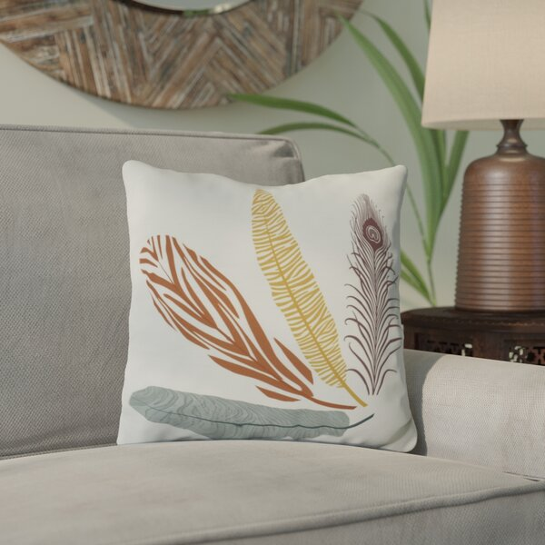 Lassiter Feather Study Throw Pillow by Bungalow Rose