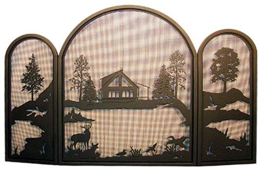 Single Panel Fireplace Screen By Meyda Tiffany