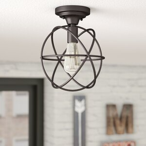 Allagash 1-Light Semi Flush Mount