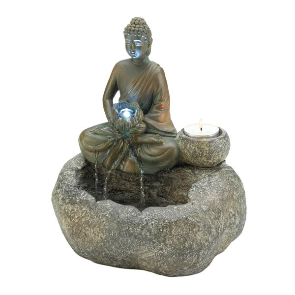 Buddha Tabletop Fountain with LED Light by Zingz & Thingz