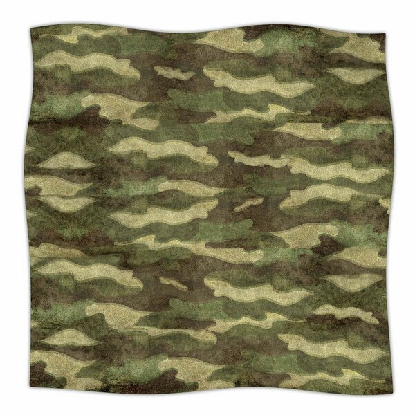 Dirty Camo by Bruce Stanfield Fleece Blanket by East Urban Home