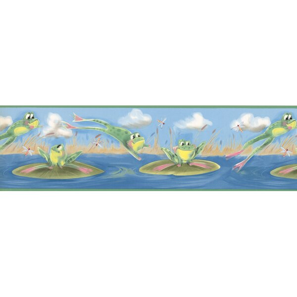 Frogs Jumping in the Pond Wall Border by York Wallcoverings