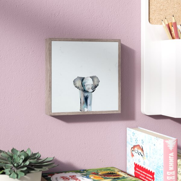 Carlton Blue Ellie by Cathy Walters Mini Framed Canvas Art by Viv + Rae