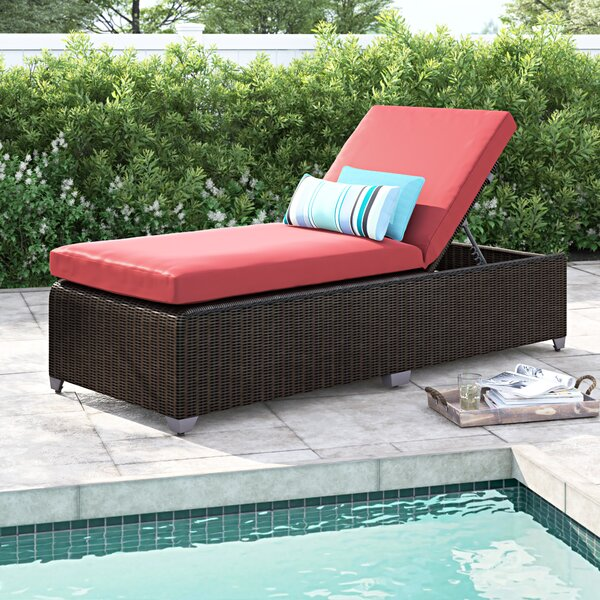 Fairfield Chaise Lounge with Cushion by Sol 72 Outdoor Sol 72 Outdoor