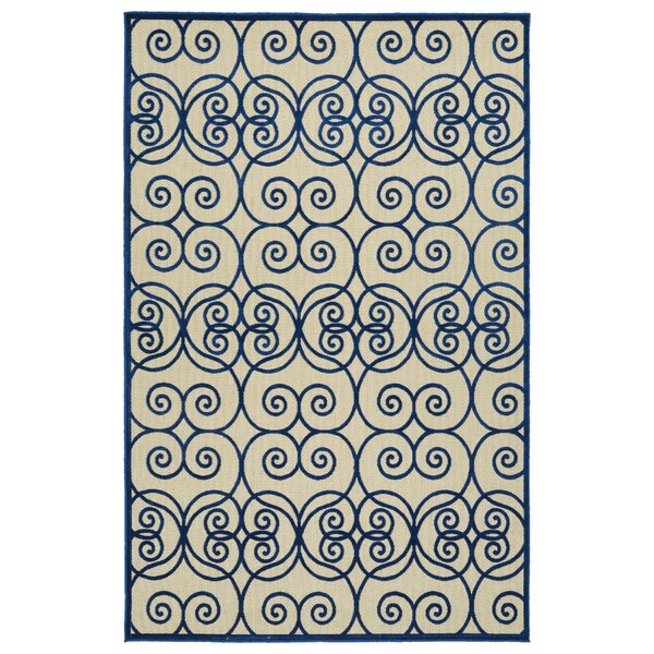 Covedale Hand-Woven Navy Indoor/Outdoor Area Rug by Charlton Home