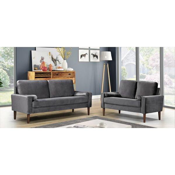 Mathais 2 Piece Living Room Set by Mercer41 Mercer41