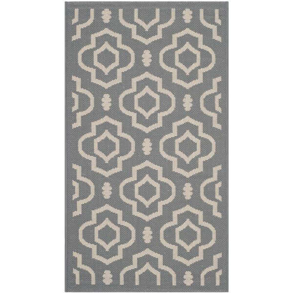 Larson Gray/Beige Indoor/Outdoor Area Rug by Sol 72 Outdoor